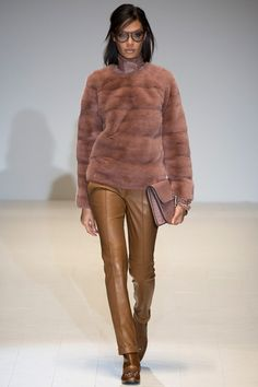 Fur Crew Neck? Hottest piece in the Gucci Fall 2014 collection in my opinion. #LOVE