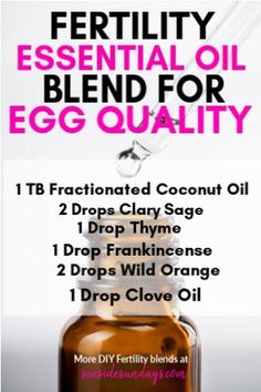 DIY essential oil fertility blend for low ovarian reserve! Improve your egg quality and get pregnant Essential Oils For Fertility, Frankincense Essential Oil, Doterra Essential Oils, Essential Oil Blends, Pregnant Essential Oils, Clove Essential Oil, Fertility Blend, Fertility Diet, Young Living Oils