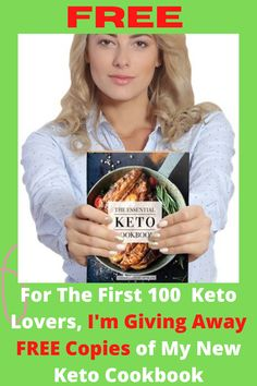 For The First 100 Keto Lovers, I'm Giving Away FREE Copies of My New Keto Cookbook. Enjoy this Keto Bread And 100 + Other Keto Delicious recettes! The Indispensable Keto Cookbook of over 100 Keto recipes for breakfast, cocktails, sweets, snacks, and aperitifs. For a recipe, the net sugars, fat, protein and calories count. Discover recipes such as Fluffy Breakfast Porridge, Spicy Buffalo Wings, Mini Burgers, Jalapeño Corn Bread, Tacos Fish, Popcorn Shrimp and many more! #keto #ketodie..