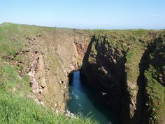 The Bullers of Buchan, a collapsed sea cave home to a seabird colony. Just north of Cruden Bay, Aberdeenshire Sea Cave, Sea Birds, Past, River, Outdoor, Outdoors, Past Tense, Outdoor Games, The Great Outdoors