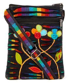 Rising International Black & Red Patchwork Crossbody Bag | zulily