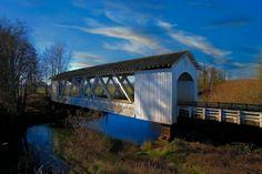 Gilkey Covered Bridge over Thomas Creek near Jefferson Oregon