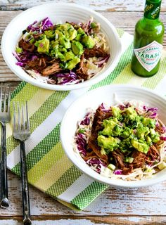 Green Chile Shredded Beef Cabbage Bowl (Video) – Kalyn's Kitchen Keto Cabbage Recipe, Cabbage Recipes, Low Carb Recipes, Beef Recipes, Whole30 Recipes, Pine Nut Recipes, Cooked Cabbage, Shredded Beef