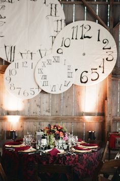 This was from the most amazing steampunk-wedding, but I love the giant clock faces