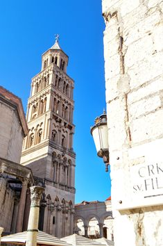 The tallest building in the Old Town - the bell tower of St. Domnius in Split, Croatia   heneedsfood.com