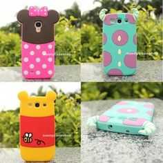 Cute Disney Cartoon Minnie Soft Silicone Case cover for Samsung Galaxy S3 S4 IV