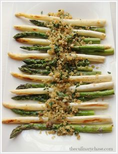 The Culinary Chase: Roasted Asparagus with Anchovy Panko-Garlic Topping