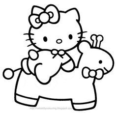 Hello Kitty looks pretty cute - but she was even cuter when she was a baby kitten - here's a coloring page of Hello Kitty as a baby for you...