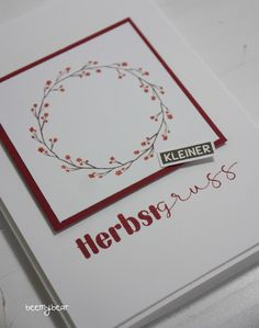 Stampin with Beemybear: Herbstgruss, Grußkarte, Stampin Up