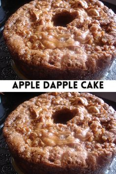 apple dapple cake recipes // Ingredients For the cake: 1 C. Oil 3 Large Eggs 1 C. Granulated sugar 2 tsp. Vanilla extract #cake #recipe #apple