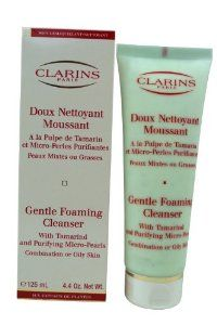 Clarins by Clarins: GENTLE FOAMING CLEANSER WITH TAMARIND & PURIFYING MICRO PEARLS ( COMBINATION/ OILY SKIN ) --/4.4OZ by Clarins. $25.79. Design House: Clarins. Clarins by Clarins GENTLE FOAMING CLEANSER WITH TAMARIND & PURIFYING MICRO PEARLS ( COMBINATION/ OILY SKIN ) --/4.4OZ