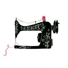 69 ideas sewing machine design vintage for 2019 Sewing Art, Sewing Rooms, Love Sewing, Sewing Crafts, Sewing Machine Tattoo, Sewing Machine Drawing, Easy Sewing Projects, Sewing Projects For Beginners, Sewing Hacks