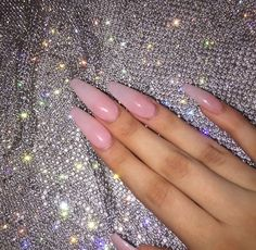Nail Shapes - My Cool Nail Designs Coffin Nails, Stiletto Nails, Glitter Nails, Perfect Nails, Gorgeous Nails, Perfect Pink, Cute Nails, Pretty Nails, Square Acrylic Nails