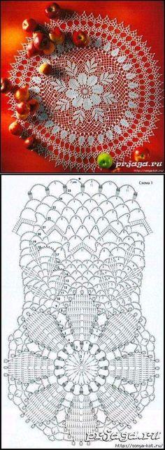 New crochet doilies chart large 51 Ideas Filet Crochet, Crochet Doily Diagram, Crochet Doily Patterns, Crochet Chart, Lace Patterns, Thread Crochet, Crochet Motif, Irish Crochet, Crochet Designs