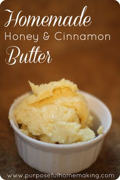 Purposeful Homemaking: How to Make Homemade Honey & Cinnamon Butter in a Stand Mixer