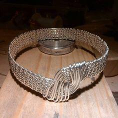 Silver plated copper bangle. Wire woven bracelet #copper #bracelet #copperjewelry