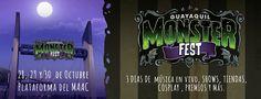 "Evento: Guayaquil MonsterFest 2016 Fechas: 28 al 30 de Octubre 2016  Lugar:  Centro Cultural  ""Libertador Simón Bolívar"" (MAAC CINE) ma..."