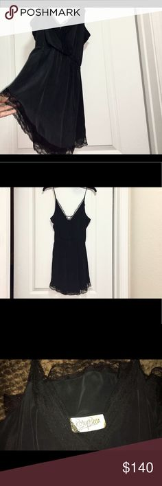 Lace Trim Silk Mini Dress 💣 Rory Beca 100% silk black dress w/lace trim. NWT‼️ Discontinued & SOLD OUT 💥 Reasonable offers negotiable 🎁 Rory Beca Dresses