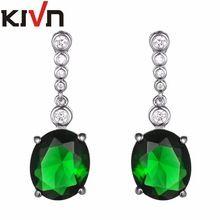KIVN Fashion Jewelry Wedding Bridal Earrings For Womens Blue CZ Cubic Zirconia Earrings Birthday Christmas Promotion Gifts //FREE Shipping Worldwide //