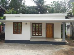 720 Square Feet 2 Bedroom Low Budget Small House and Plan - Home Pictures :: Easy Tips Modern Bungalow House Design, House Balcony Design, House Outer Design, Small Modern House Plans, Minimal House Design, Village House Design, Beautiful House Plans, Kerala House Design, Simple House Design