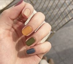 excellent spring nails you must try in 1 Nail Manicure, Diy Nails, Nail Polish, Stylish Nails, Trendy Nails, Cute Acrylic Nails, Cute Nails, Chalkboard Nails, Minimalist Nails