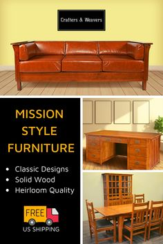 Mission style furniture offers a classic luxurious look that everyone loves. Browse our plethora of available mission furniture to class up your home. Diy Furniture Projects, Furniture Styles, Furniture Makeover, Furniture Design, Craftsman Dining Room, Craftsman Furniture, Craftsman Curtains, Hall Tree With Storage, Mission Style Furniture