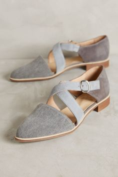 78cc3bd3a03 KMB Cross-Strap Denim Flats. Denim FlatsOxfordsBeautiful ShoesFree ...