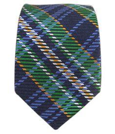 English Plaid - Navy (Skinny)   Ties, Bow Ties, and Pocket Squares   The Tie Bar