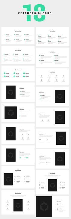 160 Brand New Page Blocks - Joomla Website Builder Gridbox Wireframe Design, Web Design Tips, Web Design Tutorials, Page Design, Design Trends, Website Design Layout, Web Layout, Layout Design, Fashion Web Design