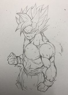 Dessin : Son Gokū (Kakarotto) Super Saiyajin - ぶれ (@FANTASTICKYOUTH) Twitter