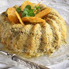 Bordura di riso con crema di carciofi e crostini di Fiore Sardo - Ricetta Bordura di riso