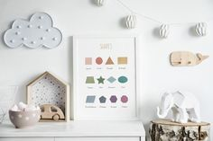 🎁 Choose 4 prints or sets of prints (add 4 items to your basket), use the 4FOR2 code at checkout, and receive 50% off on your order! Colorful Shapes Educational Print, Educational Posters, Learn Shapes, Classroom Decor, Shapes Poster, Nursery Wall Art, School Poster Thanks to this educational Ikea Nursery, Nursery Wall Art, Nursery Decor, Car Themed Nursery, Rgb Color Space, Shape Posters, School Posters, Learning Colors