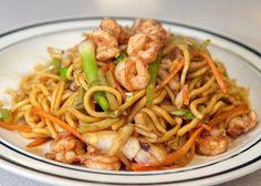 Shrimp lo mein--mmmm!!