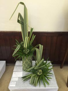 """Foliage with Attitude"" Liskeard Flower Show, England, designed by Fiona Hammond.  Best in Show Award"