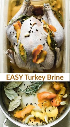 This simple Smoked Turkey Brine infuse spices, herbs, and citrus flavors into your turkey to ensure it stays moist and tender while cooking. #smokedturkey #turkeybrine via @betrfromscratch Smoked Turkey Brine, Easy Turkey Brine, Butterball Turkey, Oven Roasted Turkey, Thanksgiving Side Dishes, Thanksgiving Desserts, Thanksgiving Crafts, Brine Recipe