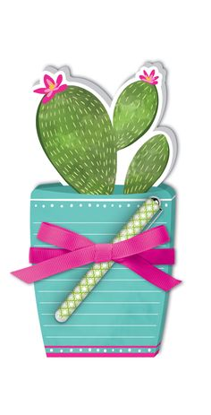 Die-Cut Note Pad: Potted Cactus by Lady Jayne Cactus, Succulents, Coin Purse, Notes, Purses, Lady, Collection, Handbags, Report Cards