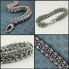 This Chainmaille Tutorial will instruct you as to the easiest way that I have found to create this stunning and versatile weave - the Byzantine Gridlock.Three p