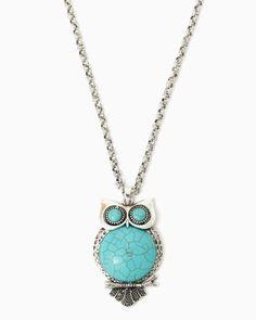 charming charlie | Turquoise Owl Pendant Necklace | UPC: 410006788862 #charmingcharlie