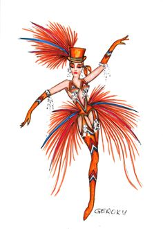 Orange, typisch für Holland Moulin Rouge Costumes, Broadway Costumes, Theatre Costumes, Movie Costumes, Girl Costumes, Dance Costumes, Showgirl Costume, Samba Costume, Carnival Outfits