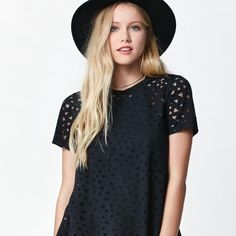 Burnout Pattern T-Shirt New With Tag! Short sleeve top with beautiful geometric patterns. PacSun Tops