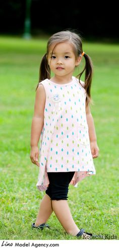 Mini Sundress with a dual color tree pattern perfect for a summer day. The Japanese often use soft gauze material for their newborns to protect their sensitive skins. This dress uses similar material.