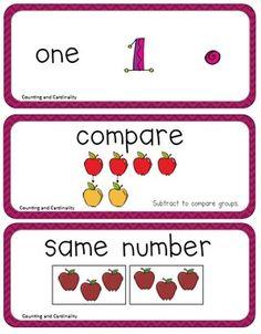 Math Vocabulary Cards (Kindergarten Common Core)