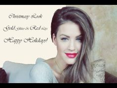 ▶ ♥ Christmasy Look ♥ Gold Glitter & Lady Red Lips - YouTube #lips #beauty #makeup #trends