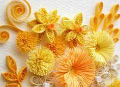 medley of yellow, gold, orange, and ivory tones
