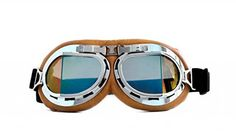 fe2fcdb888b CRG Sports Vintage Aviator Pilot Style Motorcycle Cruiser Scooter Goggle  T08 T08SRN Multi-color lens