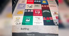 T-shirt Quilt Tutorial Let's You Wrap Yourself In Memories