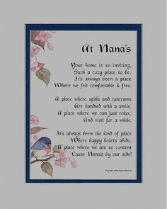 This beautiful poem is the work of nationally recognized poet, Genie Graveline. It is sure to touch your Nana's heart in a profound and meaningfu ...