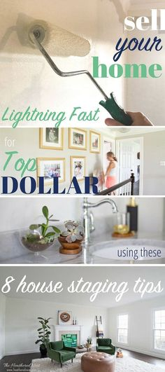 8 expert house staging tips to help you sell your home lightning fast and maximize your profits! Super helpful DIY home staging ideas from a real estate expert with experience renting, buying, selling, staging and designing homes and interior spaces AD. Home Buying Tips, Home Buying Process, Sell Your House Fast, Selling Your House, Selling House Tips Cleaning, Sell Home Fast, Sell House, Cleaning Tips, Home Renovation