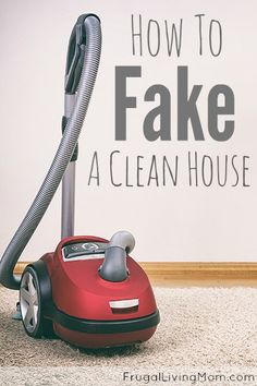 """How to Fake a Clean House - this one is good for those """"unexpected guests coming over"""".  In utter desperation I've used a trash bag to gather up stuff and throw in quickly.. then store in my coat or bedroom closet... BUT you have to remember to pull it out as soon as the guests leave or you'll have more than one bag!  Dirty dishes can also be """"hidden"""" in the stove ina pinch... as long as you don't use it!"""