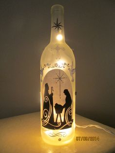 Nativity+Wine+Bottle+Night+Light+by+NightLightsbyLori+on+Etsy,+$20.00